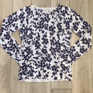 Garnet Hill floral sweater